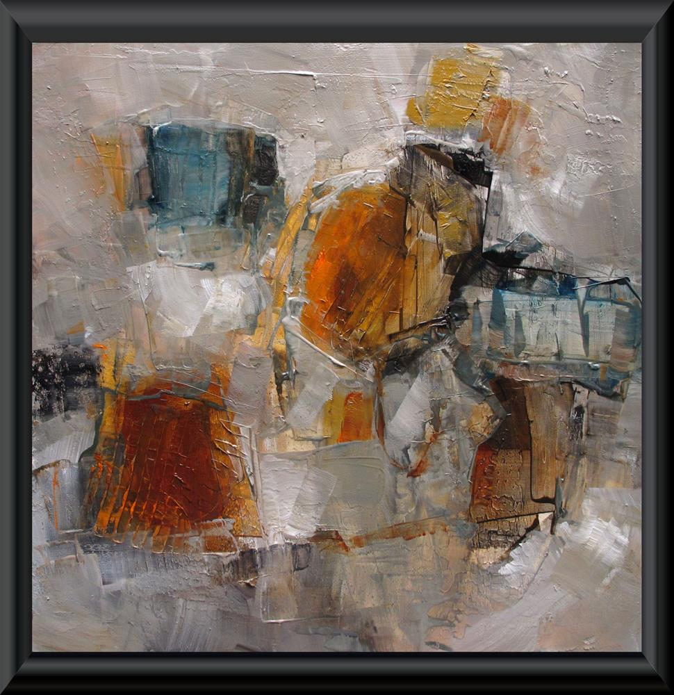 """ON THE TOWN Original ABSTRACT Art 12X12 Painting OIL"" original fine art by Colette Davis"
