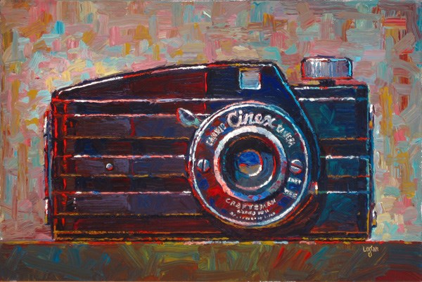 """Candid Cinex Camera"" original fine art by Raymond Logan"
