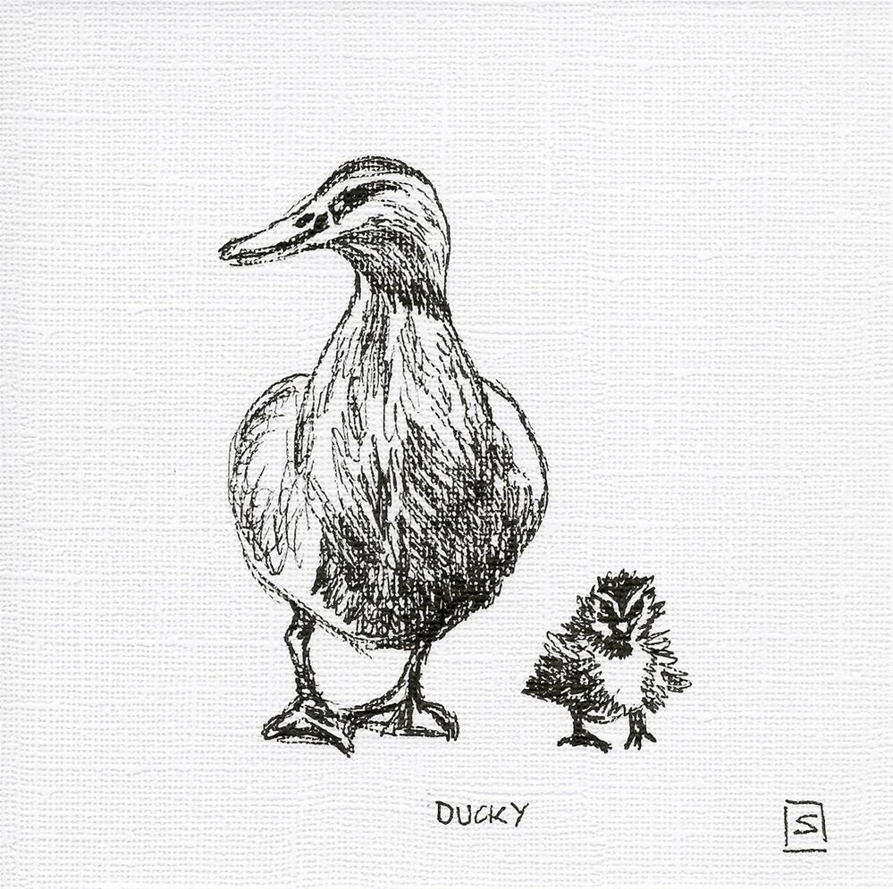 """6058 - Ducky"" original fine art by Sea Dean"