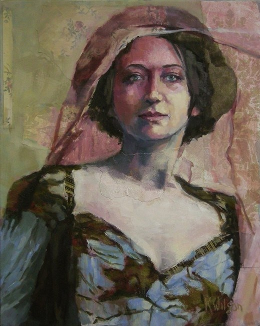 """""""Pink Veil"""" original fine art by Katie Wilson"""