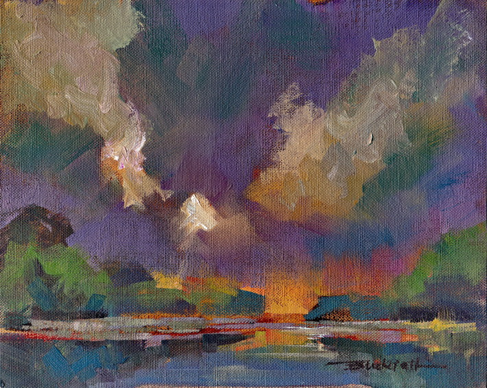 """Wetland Evening"" original fine art by Brian Buckrell"