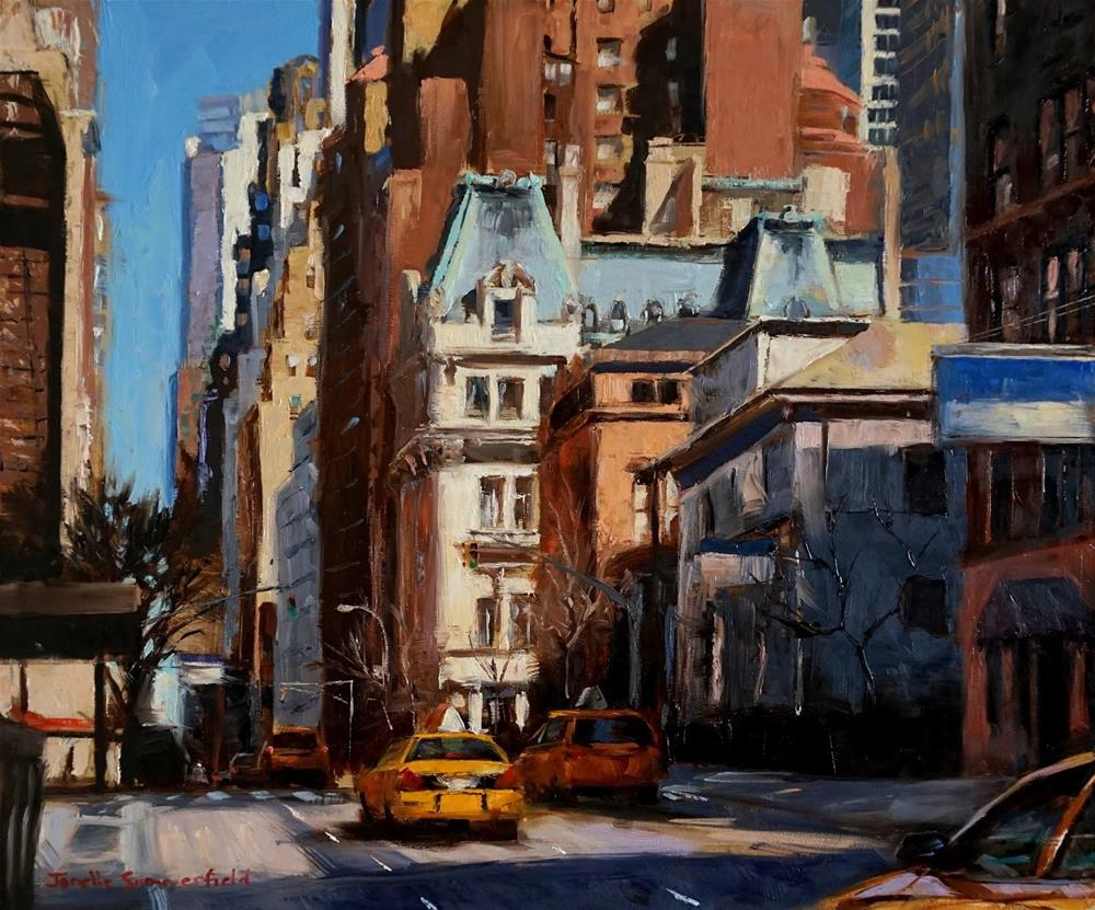 """Sunny Morning in Manhattan"" original fine art by Jonelle Summerfield"