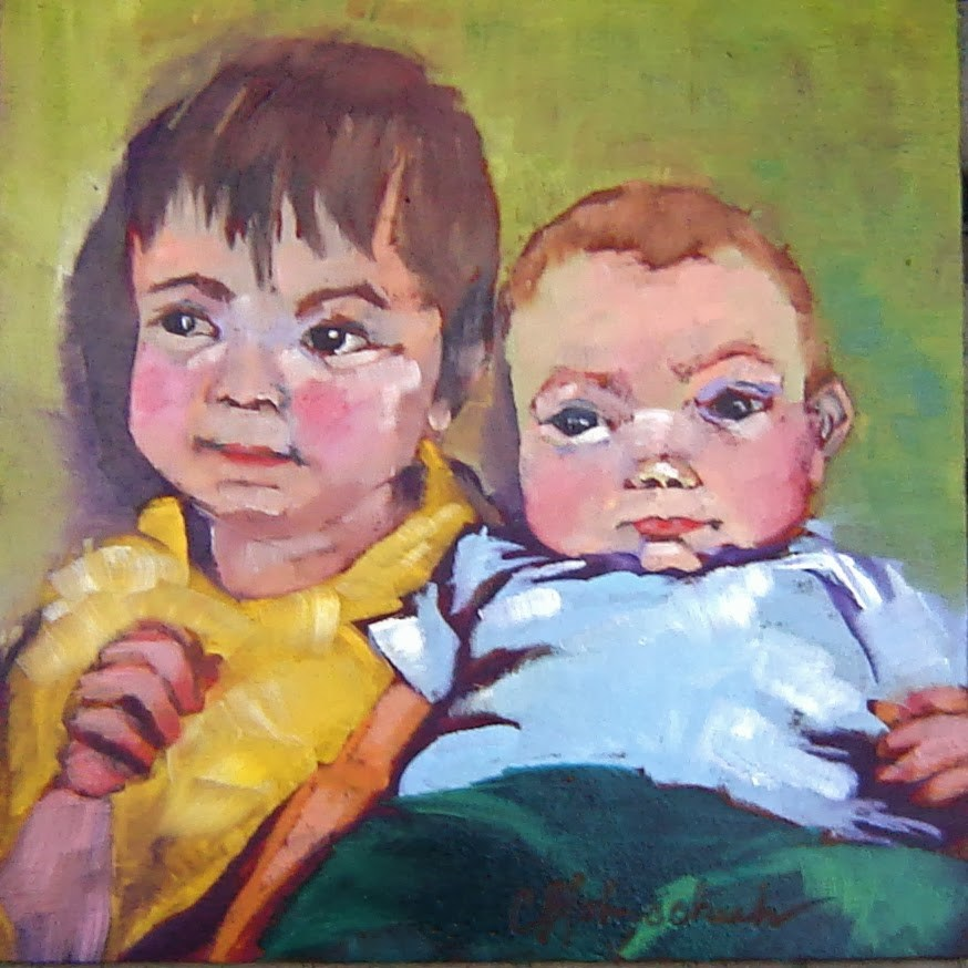 """Nicky and Liam"" original fine art by Christine Holzschuh"