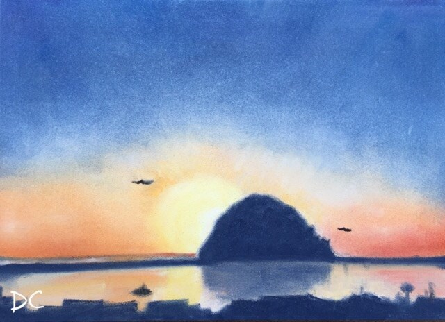 """Morro Rock"" original fine art by Diana Chang"