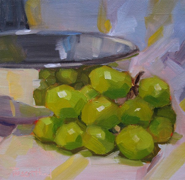 """Grapes"" original fine art by Robin Rosenthal"