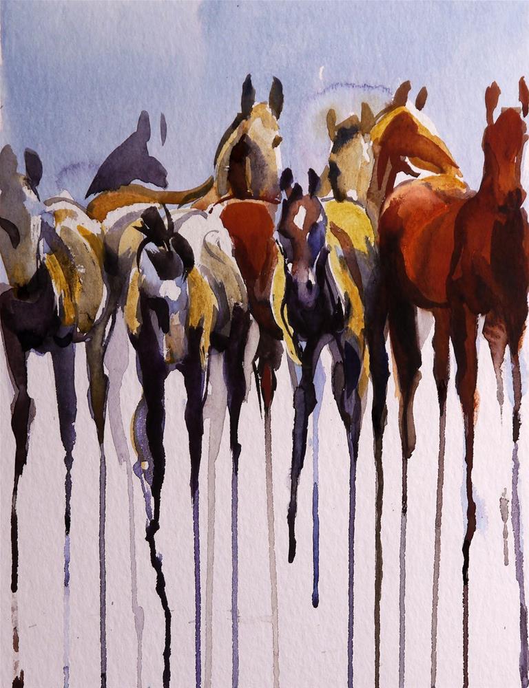 """""""weeping herd"""" original fine art by Beata Musial-Tomaszewska"""
