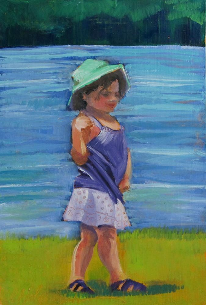 """Striking the Pose"" original fine art by Christine Holzschuh"