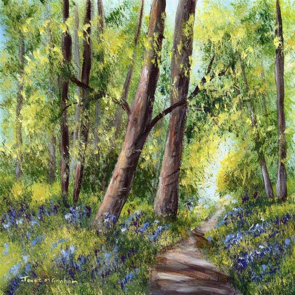 """Bluebell Forest"" original fine art by Janet Graham"