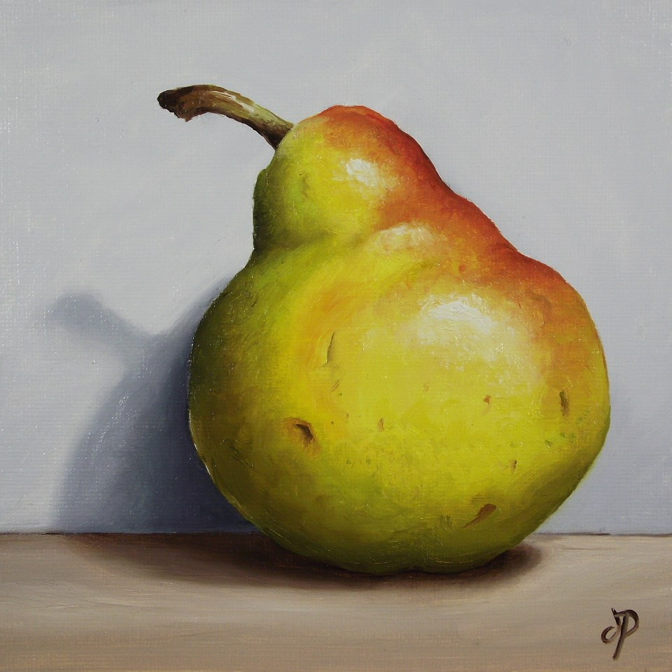 """""""Blush Pear Shadow"""" original fine art by Jane Palmer"""