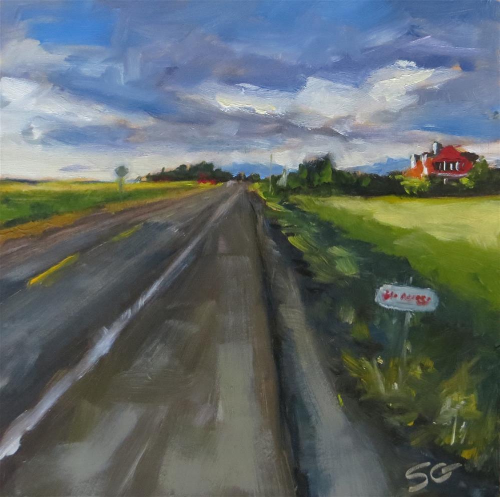 """""""Road to La Conner"""" original fine art by Susan Galick"""