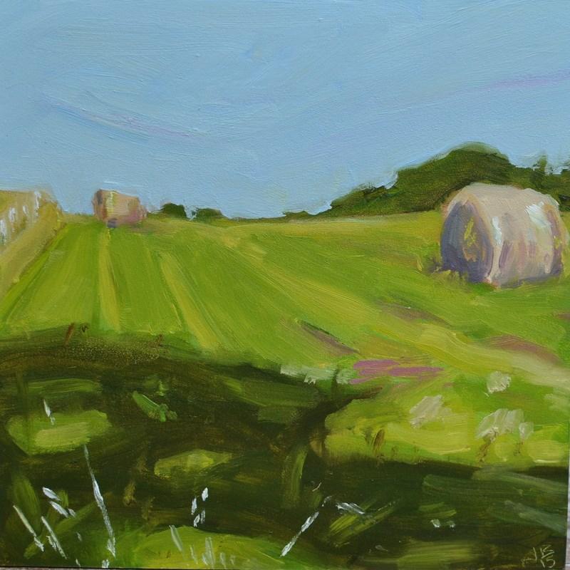 """""""Lester's Hay"""" original fine art by Jonathan Baker"""