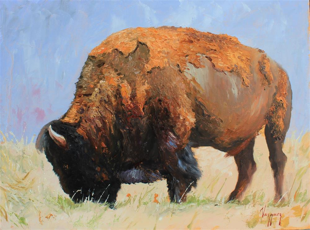 """Bison"" original fine art by Marco Vazquez"