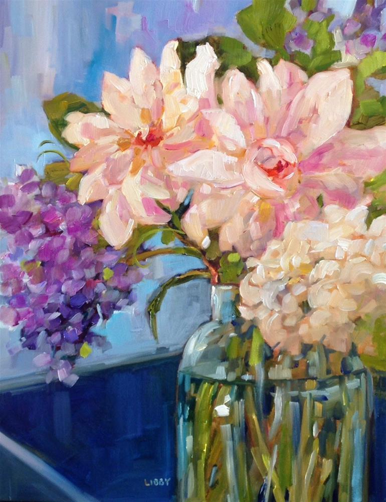 """Cascade"" original fine art by Libby Anderson"