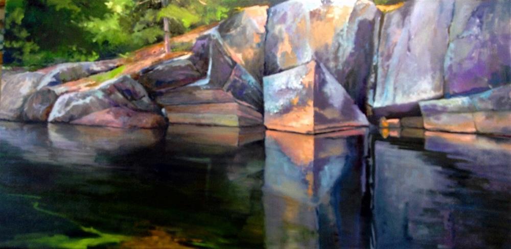"""""""Rock Reflections"""" original fine art by Cathy Boyd"""