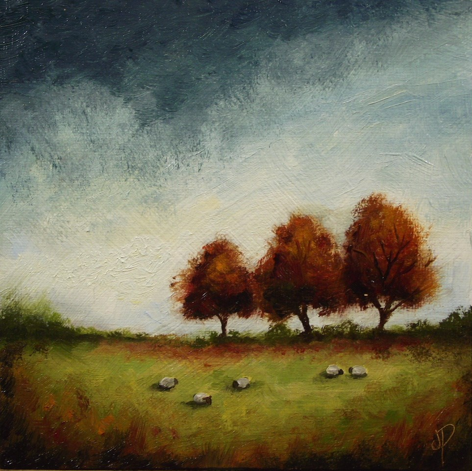 """Autumn Trees"" original fine art by Jane Palmer"