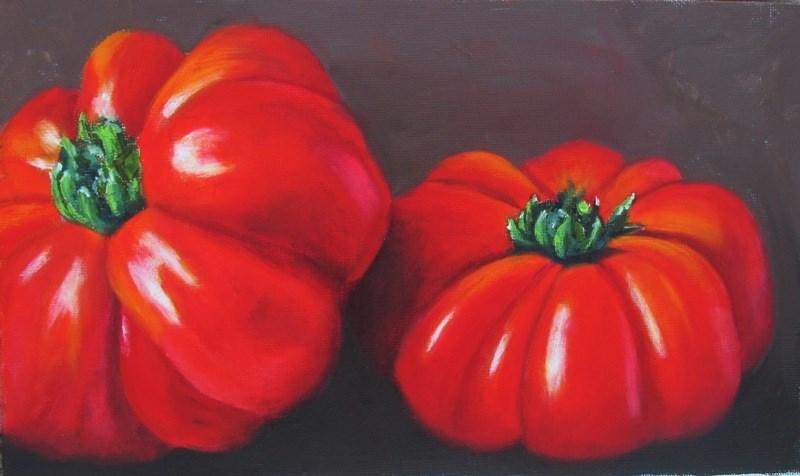 """Heirloom Tomatoes"" original fine art by Ruth Stewart"