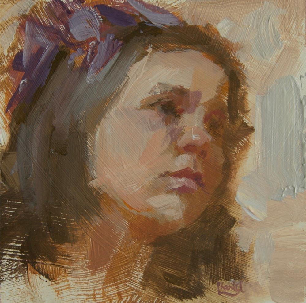 """Purple Ribbons"" original fine art by Chantel Barber"