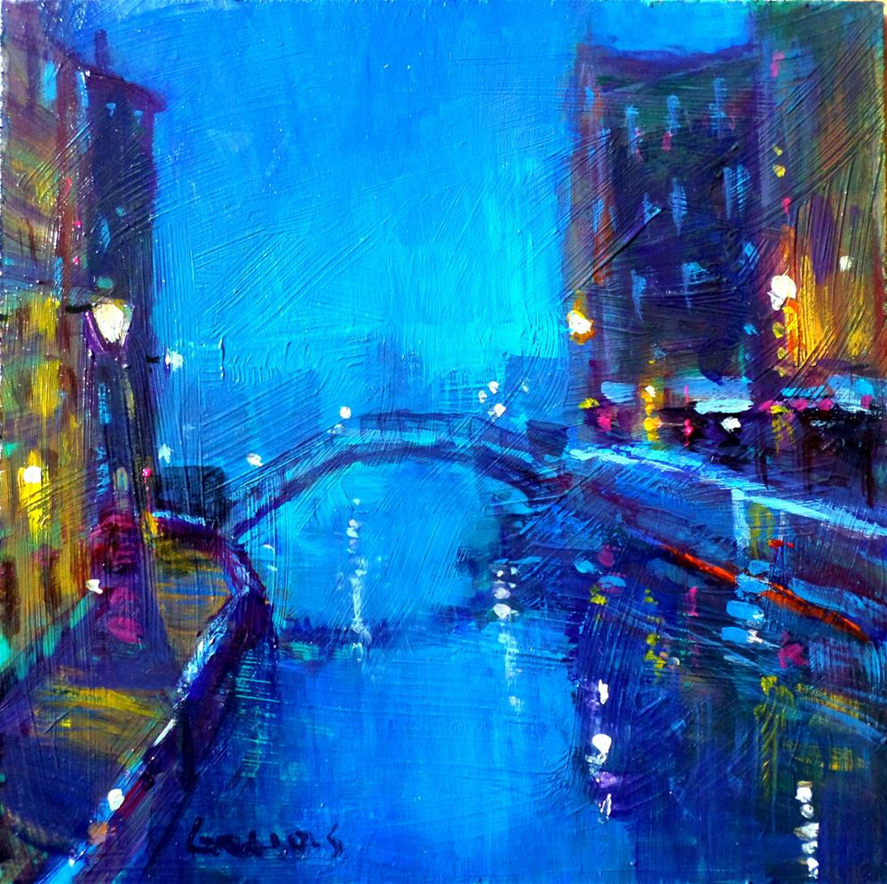 """Venice by night"" original fine art by salvatore greco"