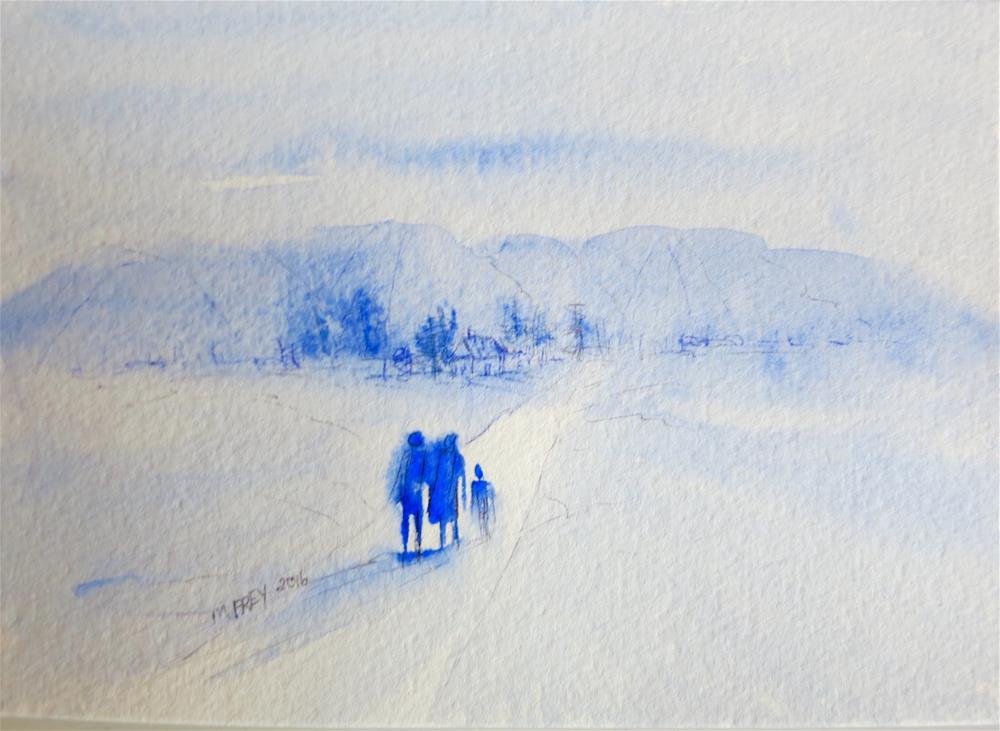 """Landscape 098"" original fine art by Michelina Frey"