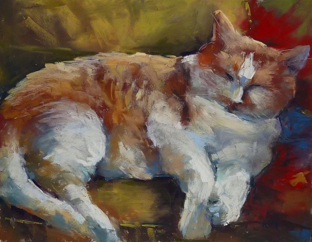 """""""3 in 5 Art Challenge Day 4  ....Animals"""" original fine art by Karen Margulis"""
