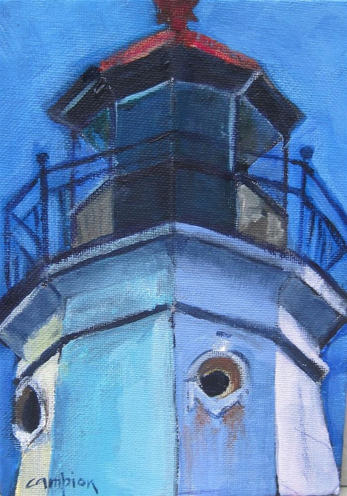 """122 North Point Lighthouse Optic Section"" original fine art by Diane Campion"