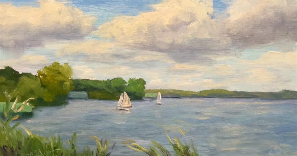"""Summr sailing "" original fine art by Judith Anderson"