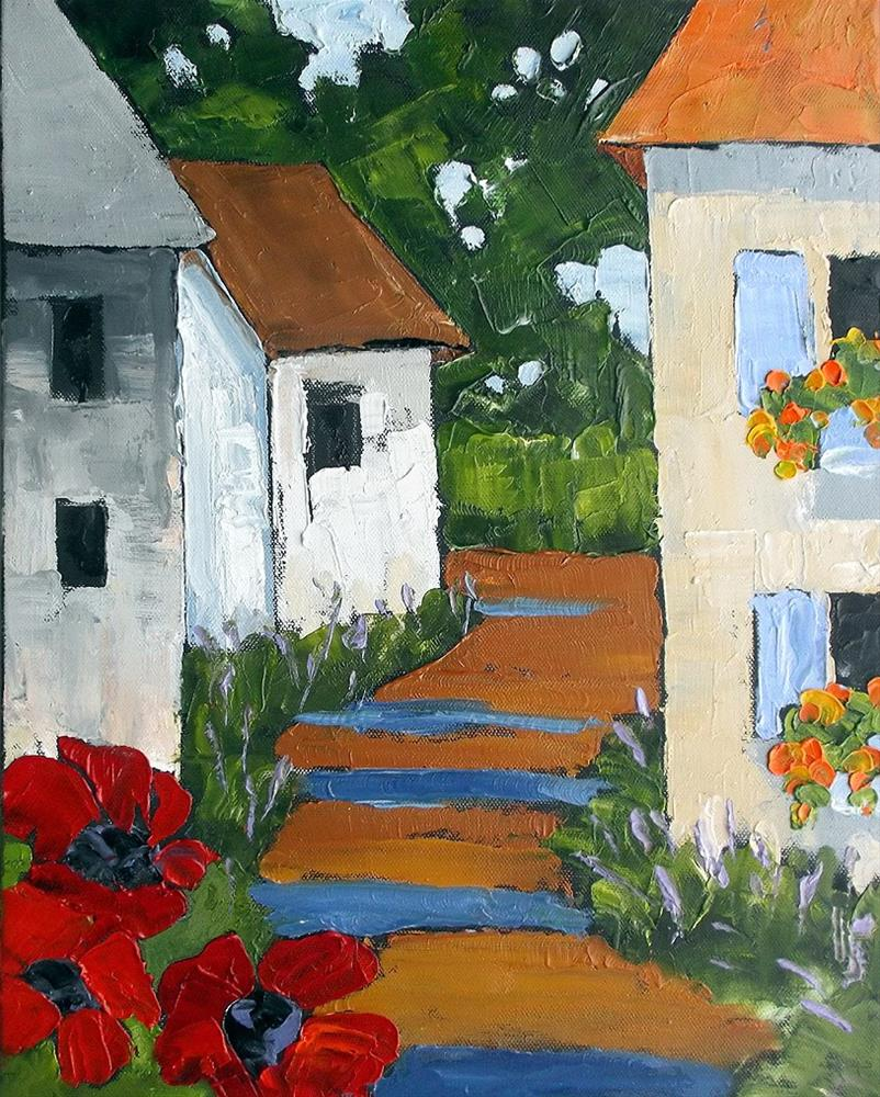 """Provence Poppies"" original fine art by lynne french"