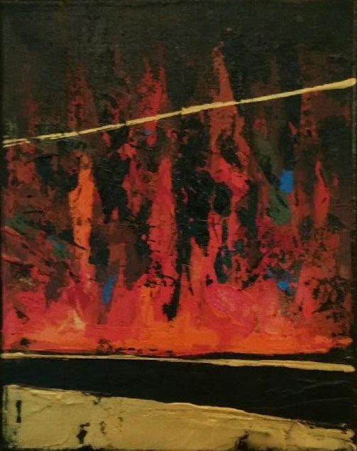 """Burning Desire"" original fine art by Stuart Glazer"