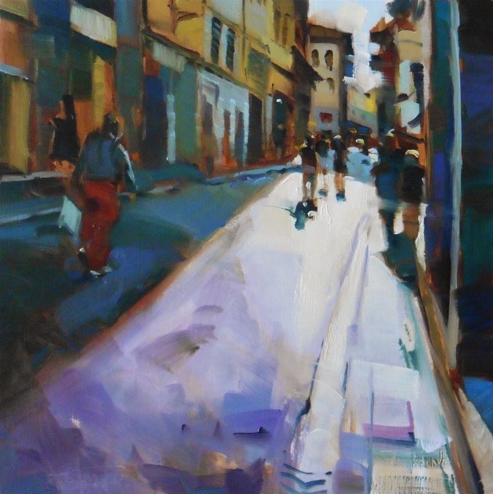 """""""Street of Firenze"""" original fine art by Víctor Tristante"""