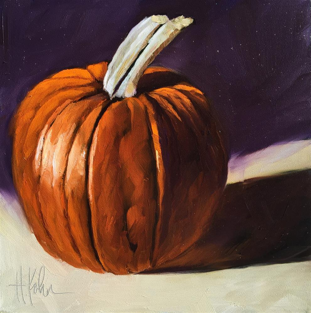"""Pumpkin"" original fine art by Hallie Kohn"