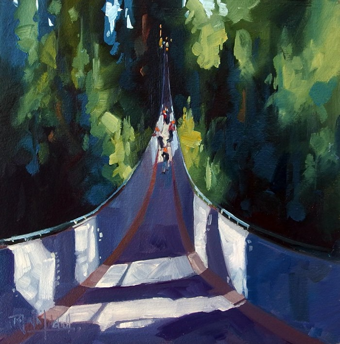 """No 705 Capilona Bridge"" original fine art by Robin J Mitchell"