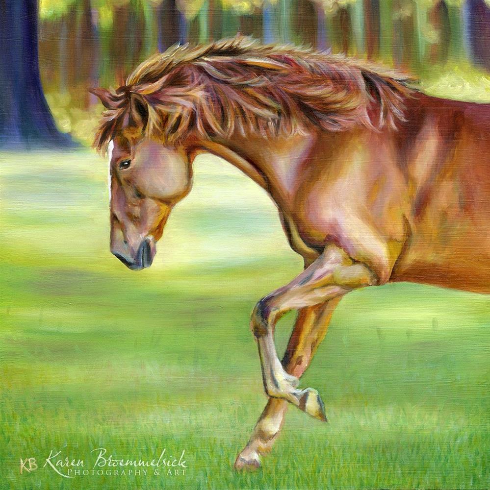 """""""Evening Dance"""" original fine art by Karen Broemmelsick"""