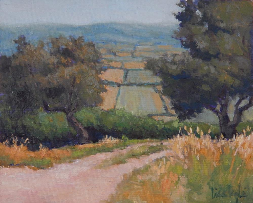 """Afternoon Walk, Orvieto"" original fine art by Lisa Kyle"