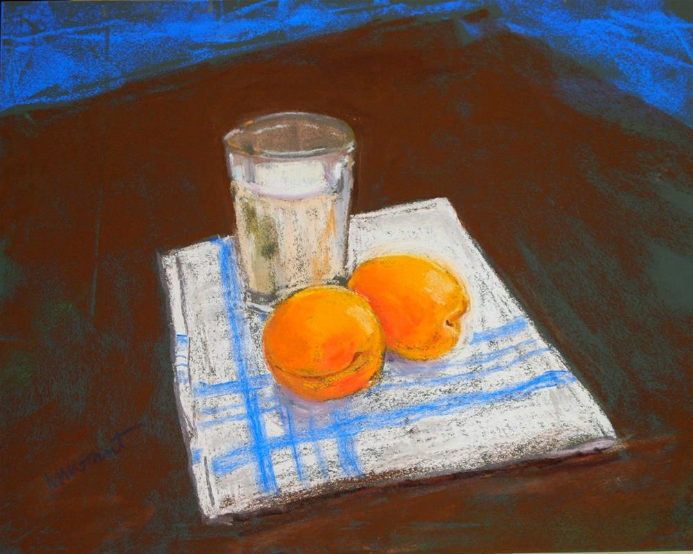 """Milk and Apricots"" original fine art by Michelle Wells Grant"
