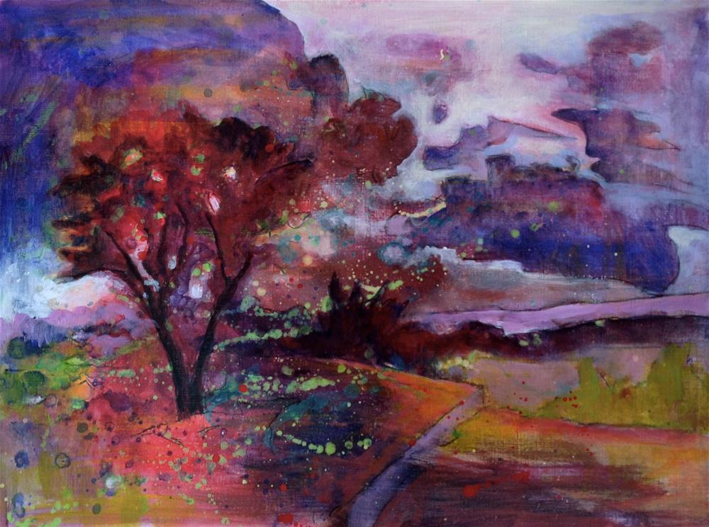 """Passing Storm Above St. Sat"" original fine art by Patricia MacDonald"