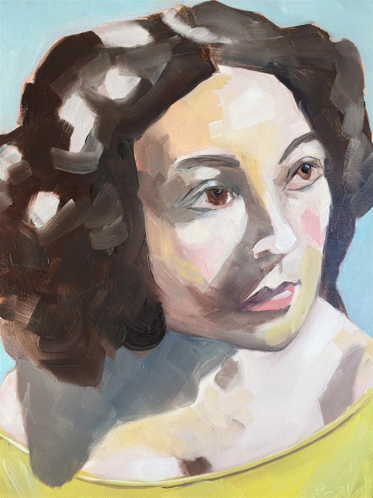 """95 Migdalia"" original fine art by Jenny Doh"