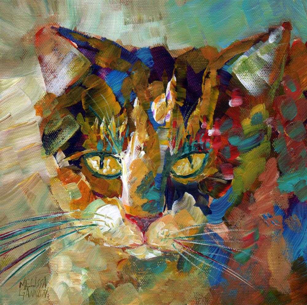 """Calico Love II"" original fine art by Melissa Gannon"