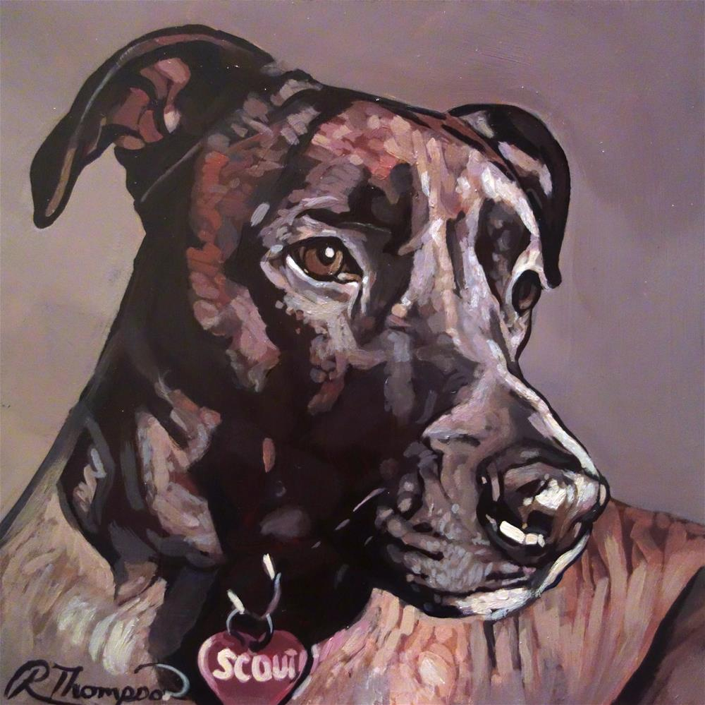 """Scout Day 6 - Reserved"" original fine art by Rachel Thompson"