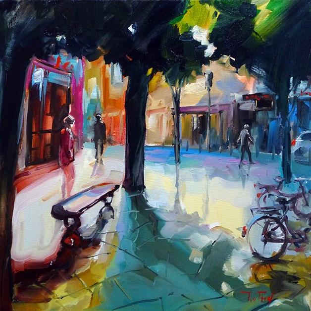 """""""Im Schatten"""" original fine art by Jurij Frey"""