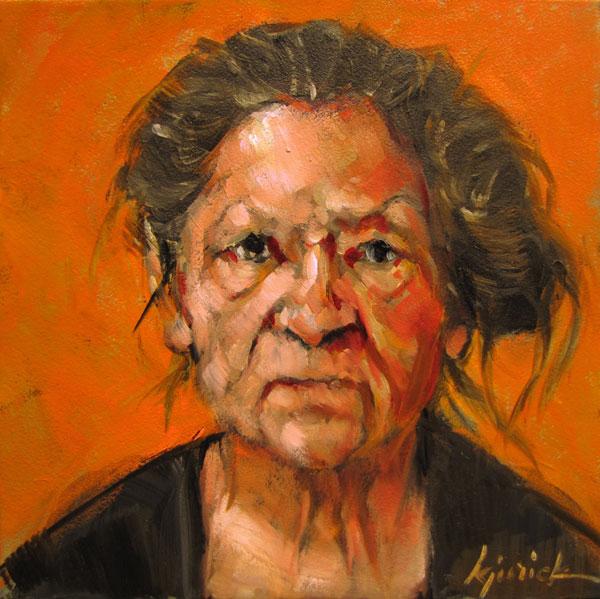 """100 Faces, No. 25"" original fine art by Karin Jurick"