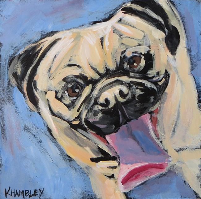 """Tongue Terrific"" original fine art by Katherine Hambley"