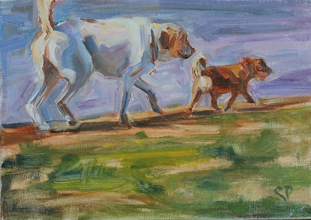 """Follow Me"" original fine art by Carol DeMumbrum"