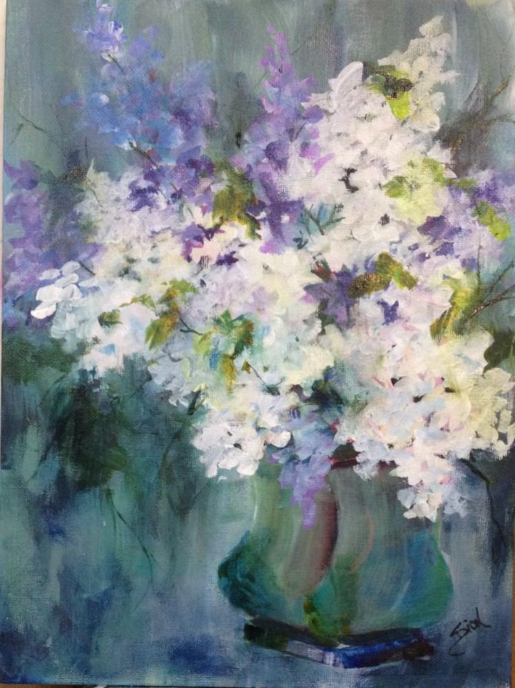 """Purple and White Lilac"" original fine art by Sue Dion"