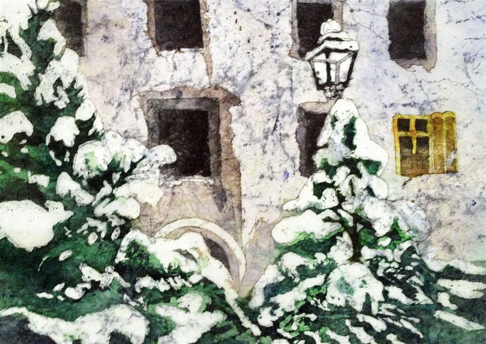 """A Winter's Day"" original fine art by Diane Fujimoto"