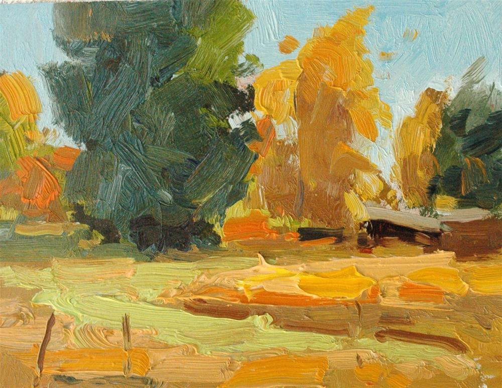 """Fall's Peak Study"" original fine art by Michael Clark"