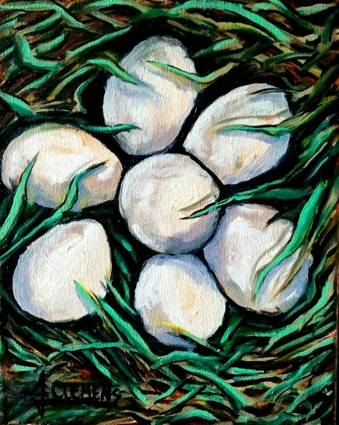 """Farm Fresh"" original fine art by Jolynn Clemens"