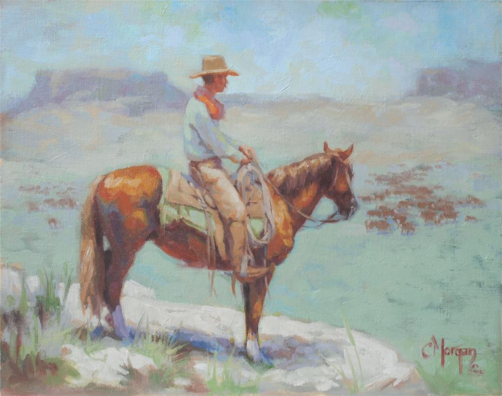 """Wrangler Memories #7"" original fine art by Cecile W. Morgan"