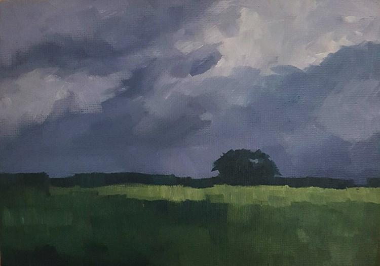 """Grey Skies"" original fine art by J M Needham"