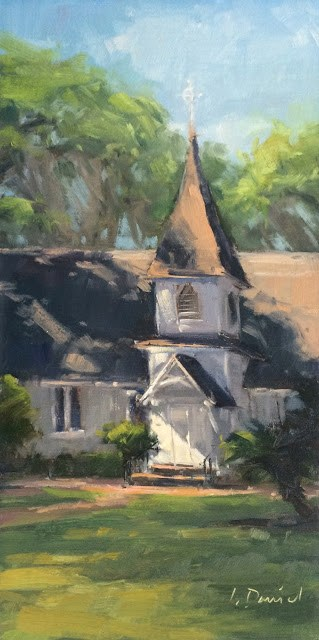 """Sunlit Steeple Door - Georgia Coast"" original fine art by Laurel Daniel"