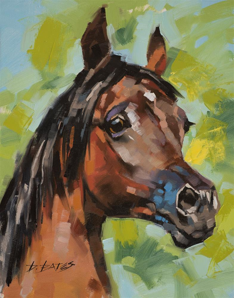 """Alert Arabian"" original fine art by David Bates"